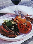grilled butterflied leg of lamb with lemon, herbs, and garlic picture
