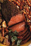 spiced roast beef and vegetables picture