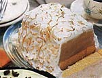 coffee baked alaska with mocha sauce picture