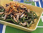 green beans with mushroom-madeira sauce picture