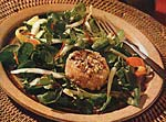 hazelnut-crusted goat cheese salad picture