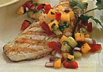grilled sea bass with tropical salsa picture