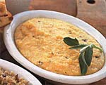 polenta with fresh herbs and white cheddar cheese picture