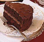 devil's food cake with creamy chocolate frosting picture