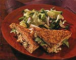 grilled blue cheese sandwiches with walnuts and watercress picture