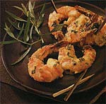 broiled shrimp with mustard and tarragon picture