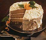 spiced layer cake with orange cream cheese frosting picture