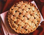 old-fashioned lattice-top apple pie picture