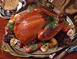 honey-brined turkey with giblet cream gravy picture