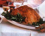 roast turkey with herbed bread stuffing and giblet gravy picture