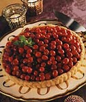 chocolate tart with candied cranberries picture