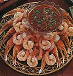 shrimp and crab with cocktail salsa picture