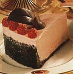 frozen white chocolate and raspberry mousse torte picture