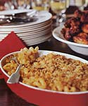 macaroni and cheese with garlic bread crumbs, plain and chipotle picture