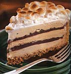 s'mores coffee and fudge ice cream cake picture