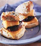 sage buttermilk biscuits with sausage and cheddar picture