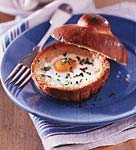 baked eggs in brioches picture