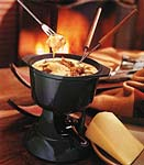 gruyere fondue with caramelized shallots picture