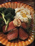 pan-seared rib-eye steaks with goat cheese, caper and sun-dried tomato butter picture