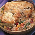 chicken and vegetable pot pies with dilled biscuit topping picture