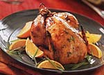 roast cornish game hens with orange-teriyaki sauce picture