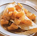 honey-ginger pineapple crepes picture