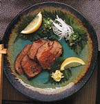 ginger beef tataki with lemon-soy dipping sauce picture