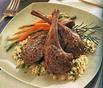 rosemary and garlic lamb chops picture