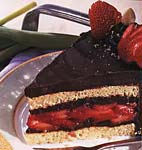 hazelnut, chocolate and strawberry torte picture