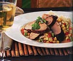 spiced pork tenderloin and avocado salsa picture