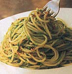 spaghetti with ramps picture
