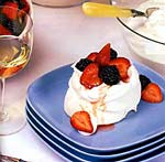mixed berry pavlovas picture