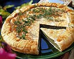 swiss chard and herb tart picture