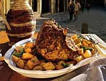 roast pork loin and potatoes picture