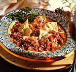 potato-and-sausage torrelli with ragu picture
