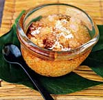 tapioca pudding with coconut cream and palm-sugar syrup picture