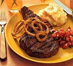 chili-rubbed rib-eye steaks picture