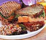 salmon club sandwich picture