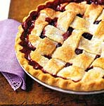 lattice-top blackberry pie picture
