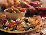 grilled ratatouille salad with feta cheese picture