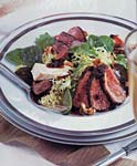 duck salad with cheese toasts and port-currant sauce picture