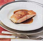 seared salmon with balsamic glaze picture