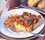 cheddar, vegetable and sausage strata picture