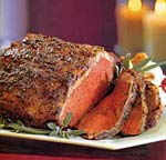 roast new york strip loin with garlic-herb crust picture