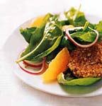 spinach salad with oranges and warm goat cheese picture