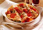 roasted vegetable and prosciutto lasagna with alfredo sauce picture