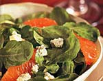 arugula, blood orange, and blue cheese salad picture