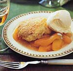 peaches with shortcake topping picture