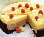 double-decker raspberry and white chocolate cheesecake picture