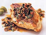olive-stuffed chicken with almonds picture